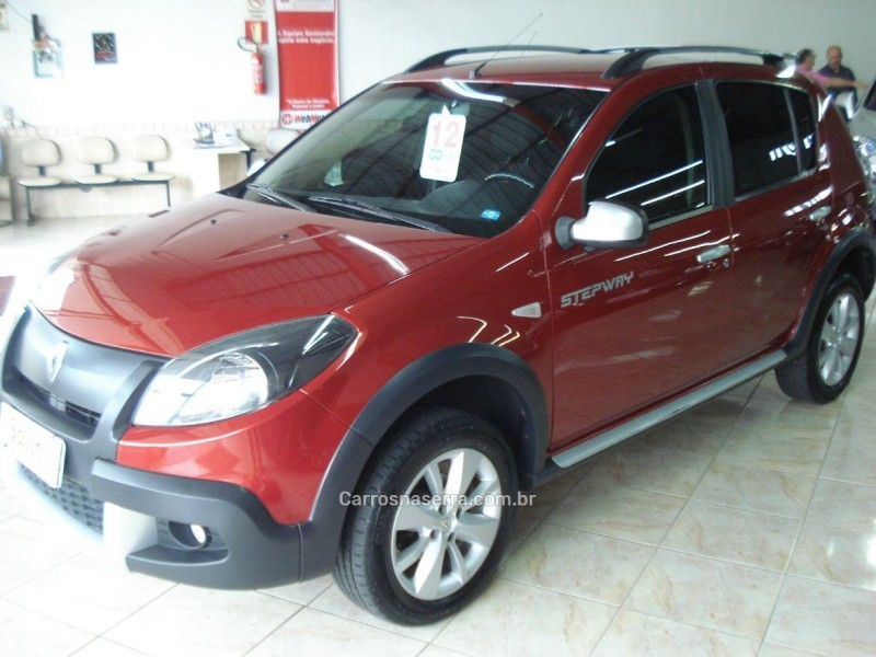 sandero 1.6 stepway 16v flex 4p manual 2012 bento goncalves