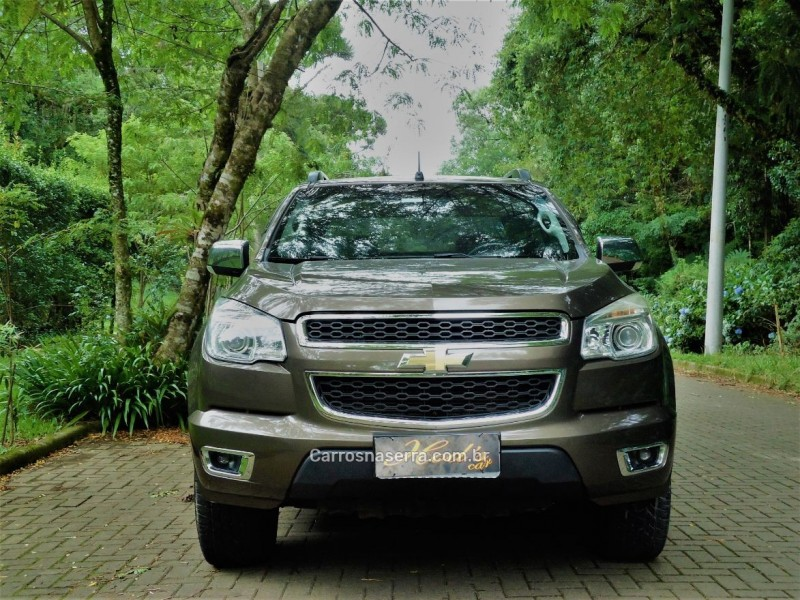 s10 2.8 ltz 4x4 cd turbo diesel 4p automatico 2013 canela