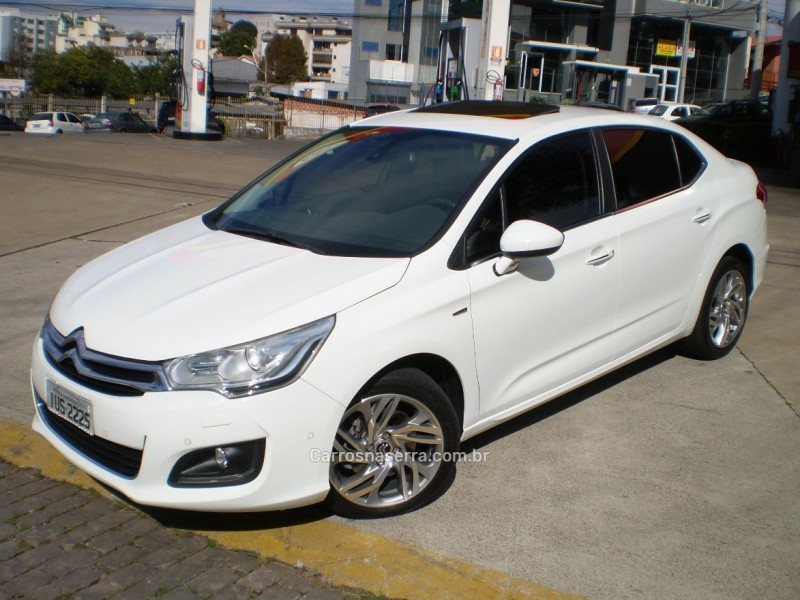 c4 lounge 1.6 exclusive 16v turbo gasolina 4p automatico 2014 caxias do sul