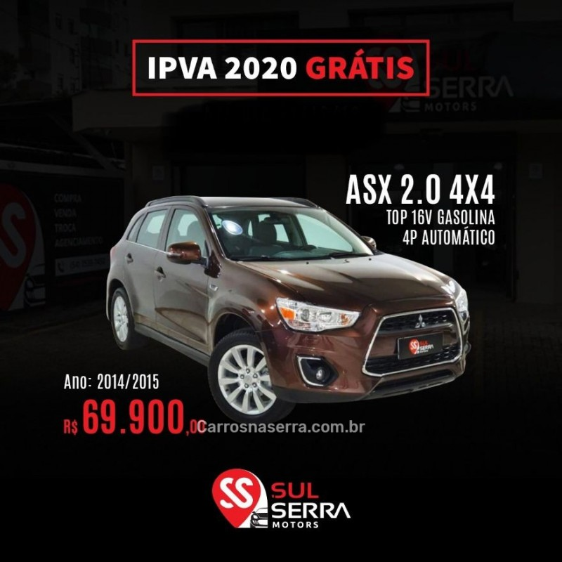 asx 2.0 4x4 top 16v gasolina 4p automatico 2015 caxias do sul