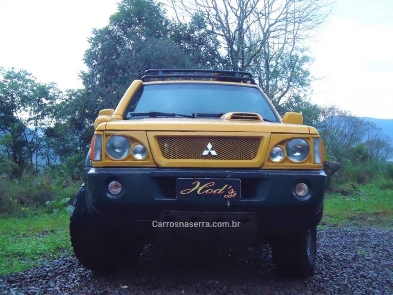 l200 savana 2.5 4x4 cd 8v turbo diesel 4p manual 2006 canela