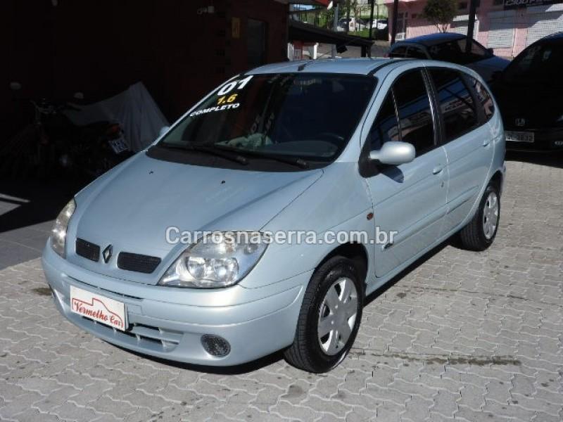 scenic 1.6 rt 16v gasolina 4p manual 2001 caxias do sul