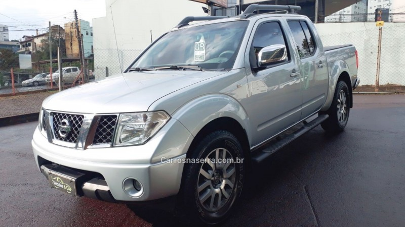 frontier 2.5 le attack 4x4 cd turbo eletronic diesel 4p automatico 2009 bento goncalves