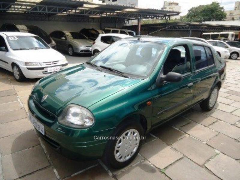 clio 1.0 rn sedan 16v gasolina 4p manual 2001 caxias do sul