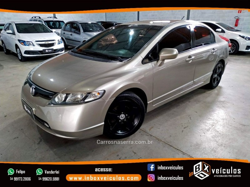 civic 1.8 lxs 16v gasolina 4p manual 2007 gramado