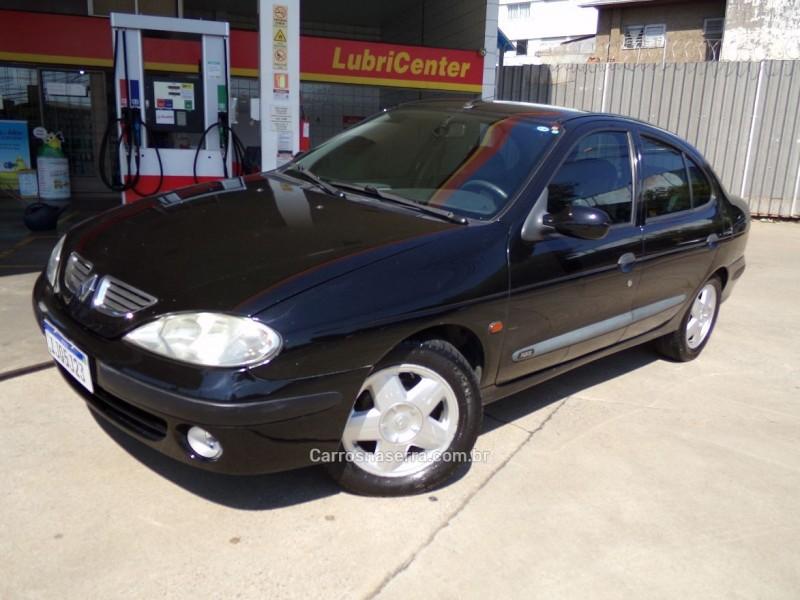 megane 2.0 rxe sedan 8v gasolina 4p manual 2001 caxias do sul