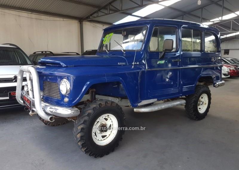 rural 3.0 4x4 6 cilindros 12v gasolina 2p manual 1967 caxias do sul