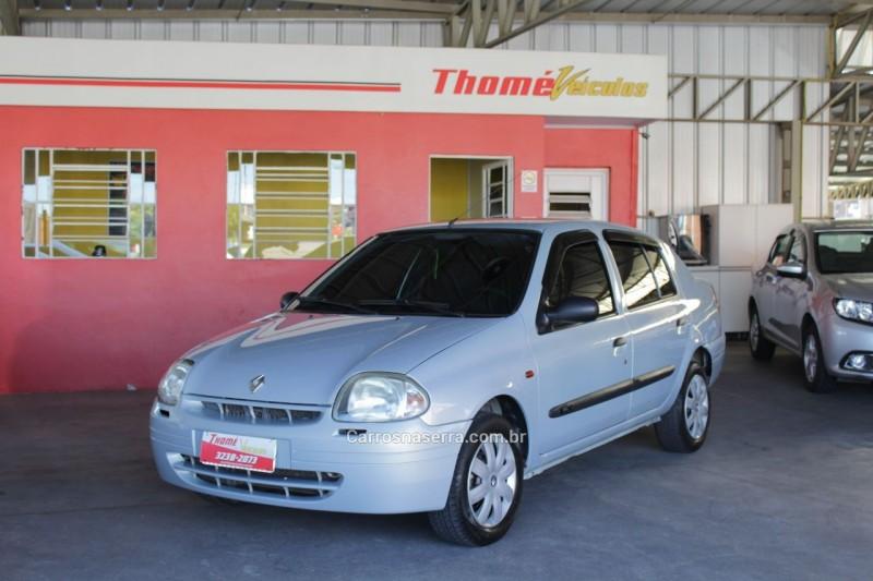 clio 1.0 rl sedan 16v gasolina 4p manual 2001 caxias do sul