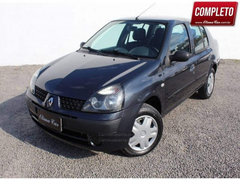clio 1.0 expression sedan 16v gasolina 4p manual 2004 flores da cunha