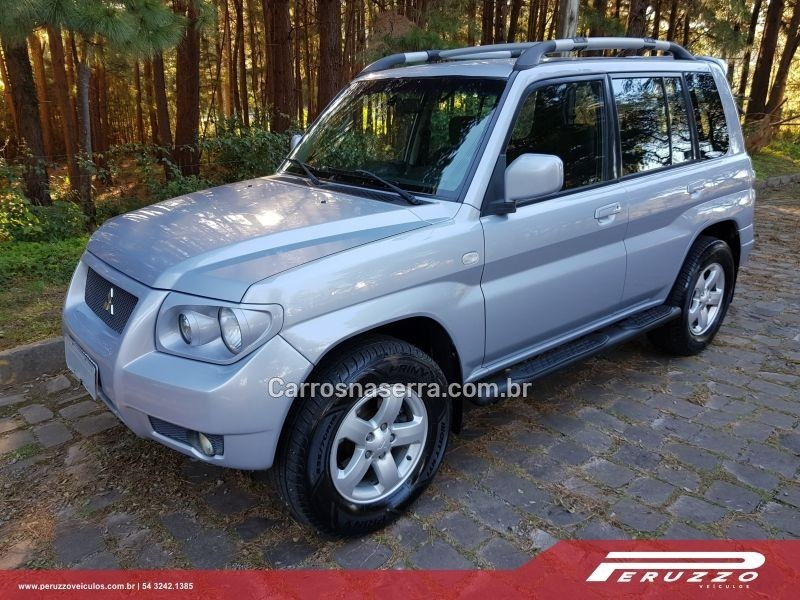 pajero tr4 2.0 4x4 16v 131cv gasolina 4p manual 2009 nova prata