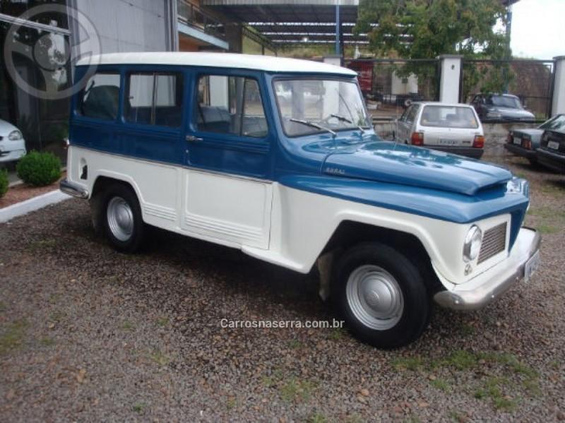 RURAL 2.6 4X2 6 CILINDROS 12V GASOLINA 2P MANUAL - 1967 - SãO SEBASTIãO DO CAí