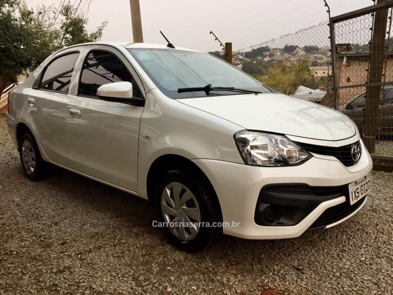 etios 1.5 x sedan 16v flex 4p manual 2018 bento goncalves