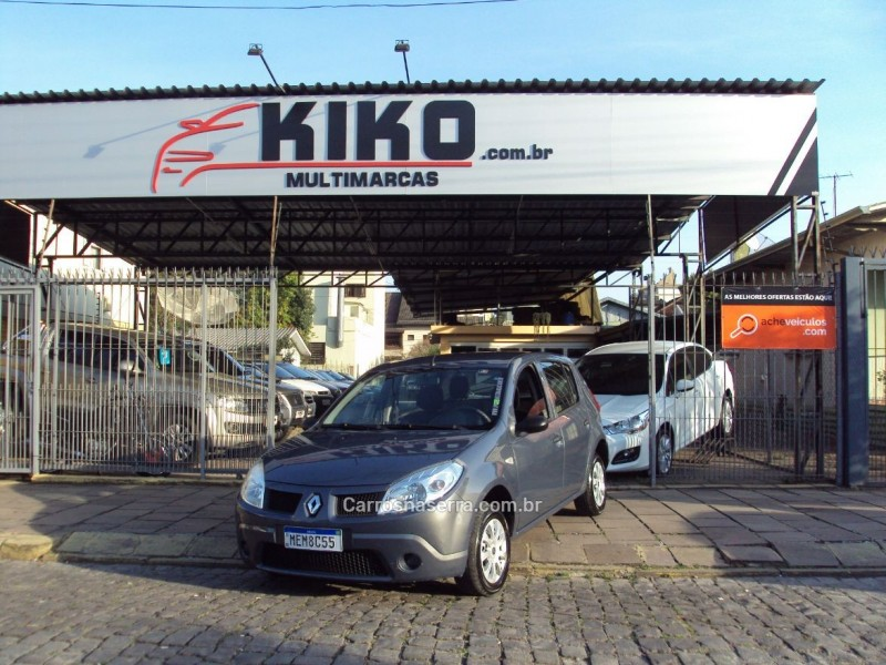 sandero 1.0 authentique 16v flex 4p manual 2009 caxias do sul