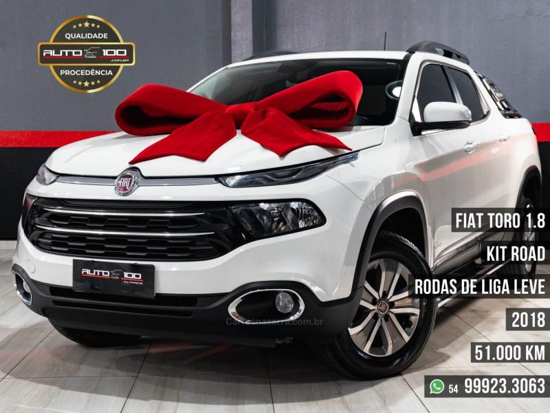 toro 1.8 16v evo flex freedom road automatico 2018 caxias do sul