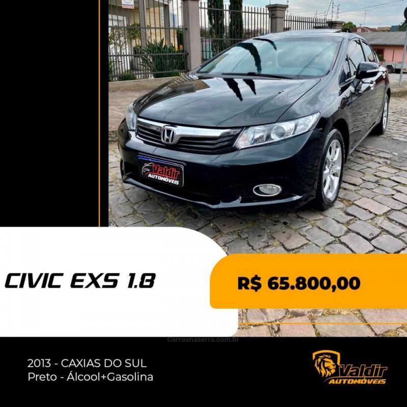 civic 1.8 exs 16v gasolina 4p automatico 2013 caxias do sul