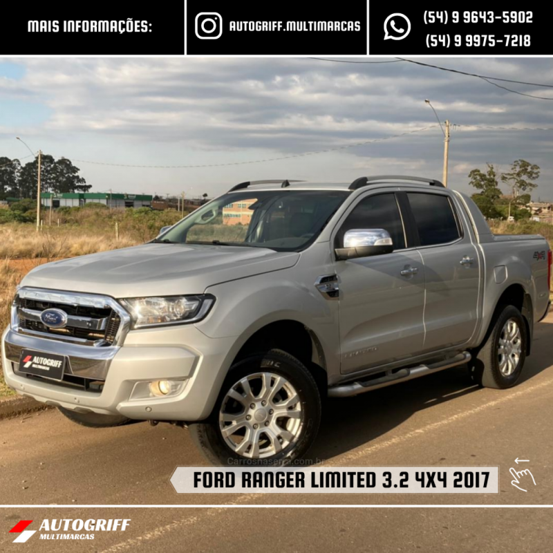 ranger 3.2 limited 4x4 cd 20v diesel 4p automatico 2017 vacaria